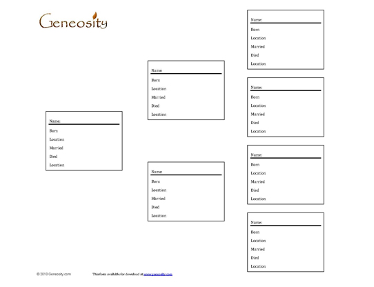printable family tree form