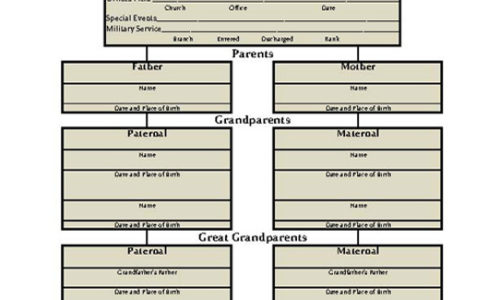 Husband's Genealogy Chart