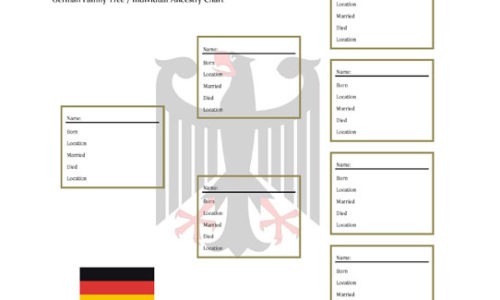 German family tree form