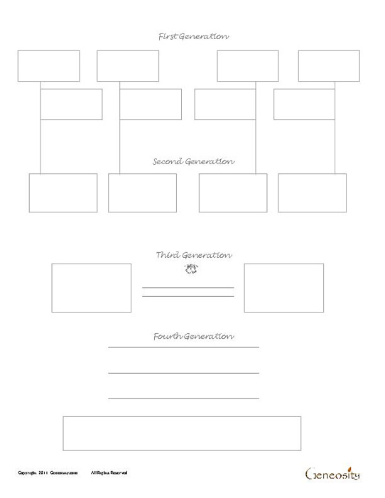 Two Sibling Four Generation Genealogy Form