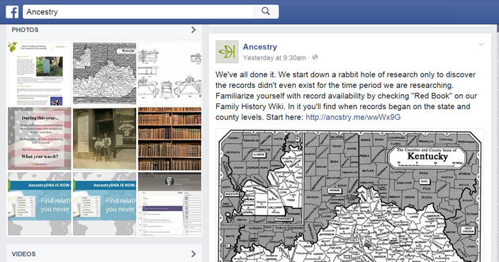 facebook family ancestry sites