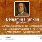 twitter genealogy ben franklin