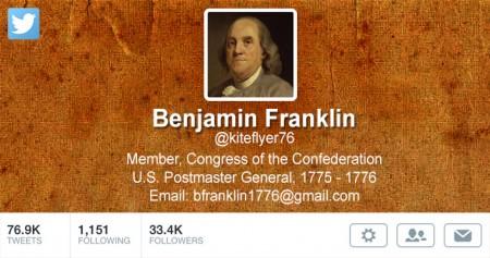 twitter genealogy ben franklin
