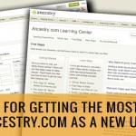 ancestry.com tips new user