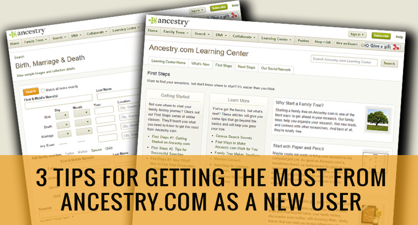 ancestry.com tips new user