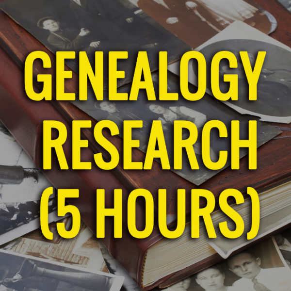 5 hours of genealogy research