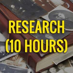 10 hours of genealogy research