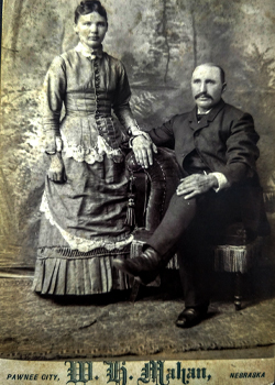 George Busboom and Maggie Tinderlake, married on August 4th of 1886.