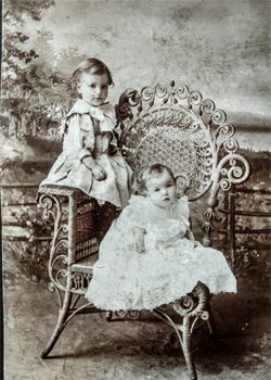 Older Photo of Ray and Fred in Dresses