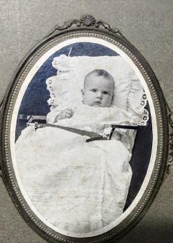 Cabinet Card of Baby Velma Richard