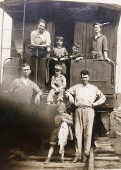 Roundtree antique photo on train