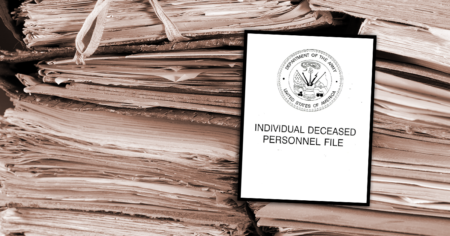 individual deceased personnel file for family research military