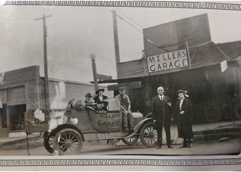 automobiles and business help with dates and places of old photos