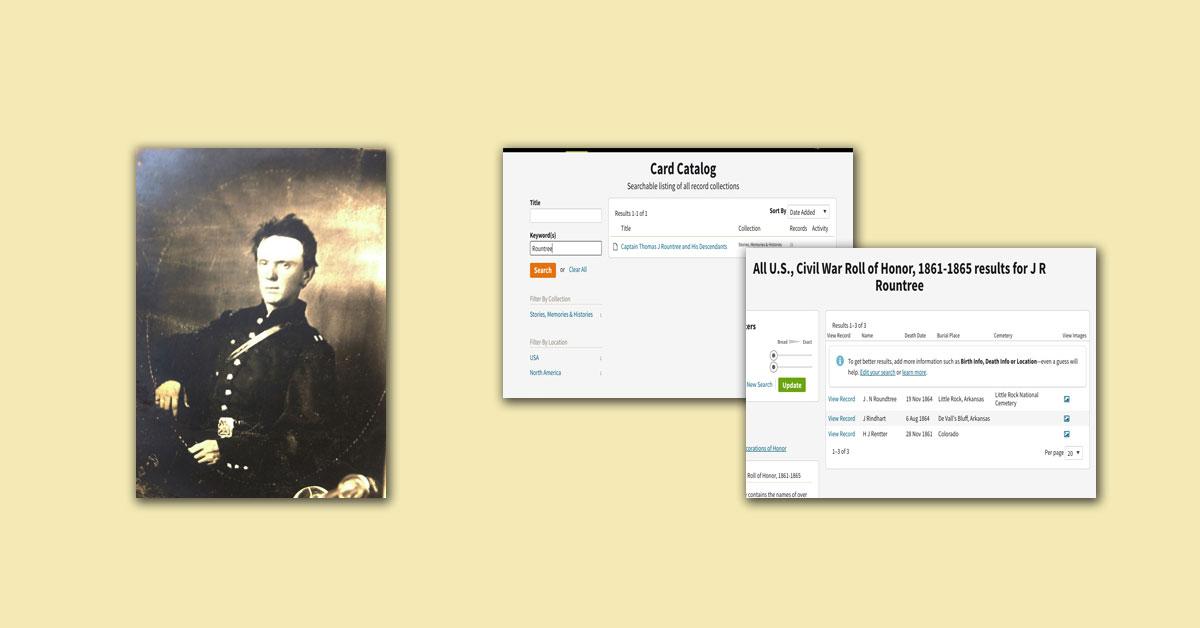 Ancestry.com card catalog search
