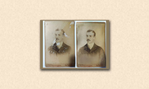 old antique cabinet card photo restoration