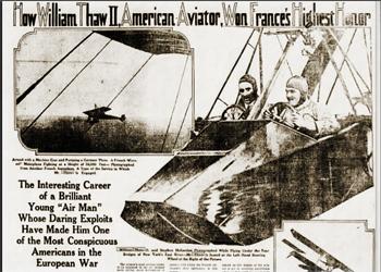 William Thaw World War Flying Ace