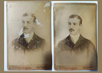 antique cabinet card photo restoration